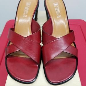 Red Sandals-Leather-PreOwned-Sz 10